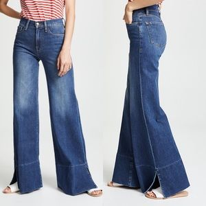 NWT Frame Le Palazzo Panel Slit Wide Leg Jeans